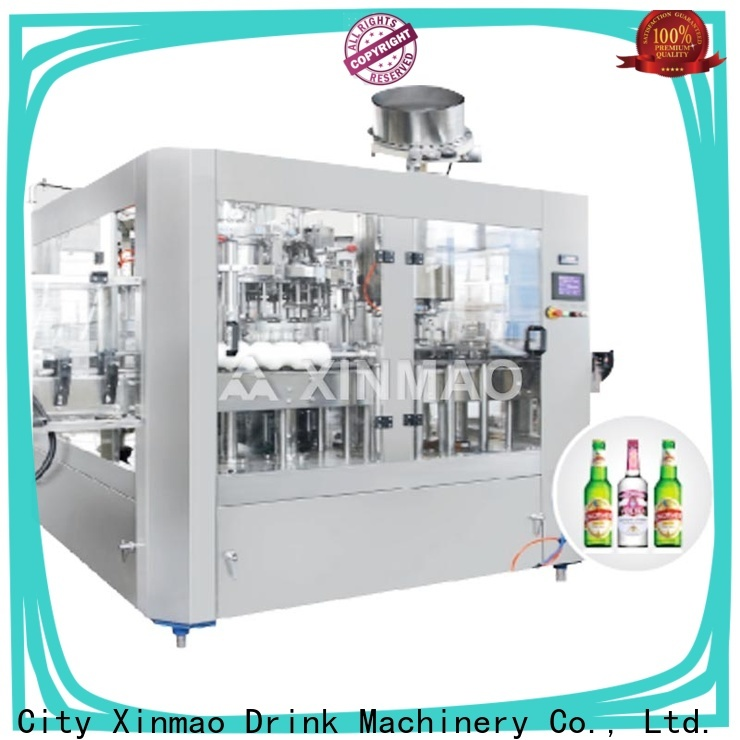 Xinmao line automatic beer bottle filler factory for beer can