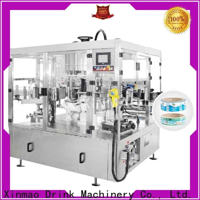 Xinmao automatic round bottle labeling machine supply for water bottle