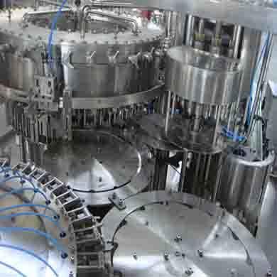This machine is XINMAO's 3in1 mono block filling machine