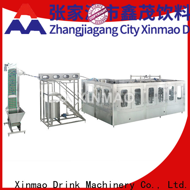 Xinmao top small scale soda bottling equipment for sale for carbonated drink